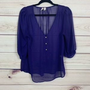 Francescas violet purple button blouse